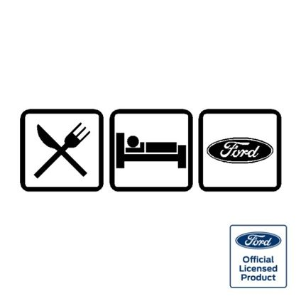 Eat Sleep Ford Decal