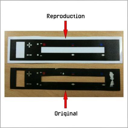 Escort Mk2 Heater Control Sticker