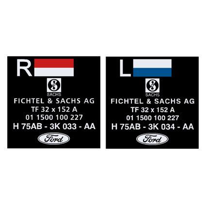 Escort Mk2 Shock Absorber Decals Fichtel & Sachs H75AB