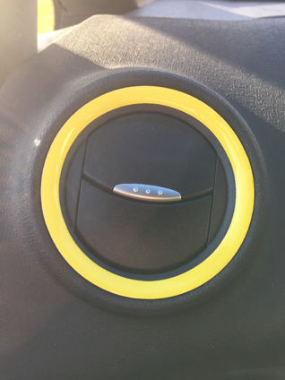 Fiesta Mk7 - GEL Badge Rings for Heater Vent Surrounds
