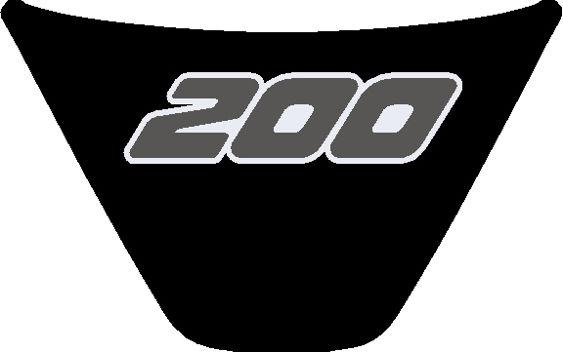 Fiesta Mk7 Steering Wheel Badge 200 Black