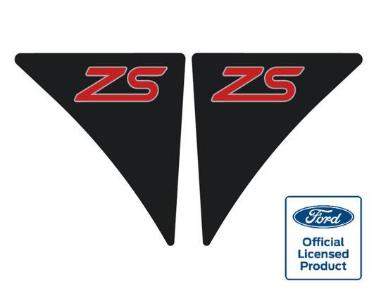 Fiesta mk7 wing badges zs blackred