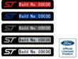 Fiesta Mk7.5 Mk8 ST Number Badge Long Gallery
