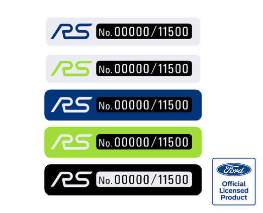 Focus Mk2 RS Build Number Gel Badge