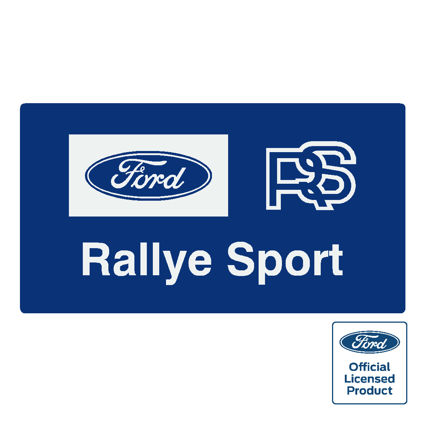 Ford rs rallyesport sticker 125x70mm (official)