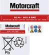 Motorcraft 097 60ah Battery stickers