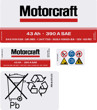 Motorcraft Battery Decals 085 43ah