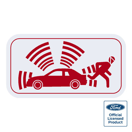 Ford Alarm Decal - Red
