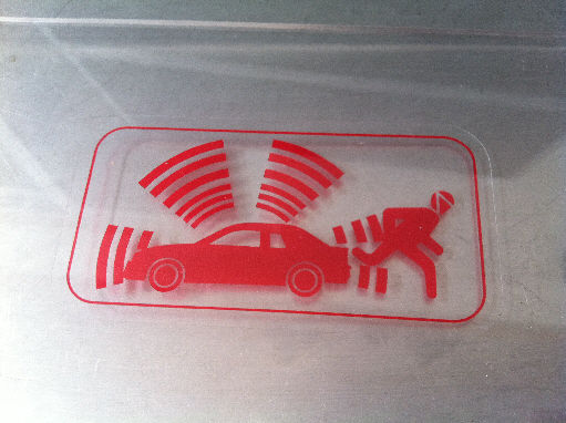 Ford Alarm Sticker Red