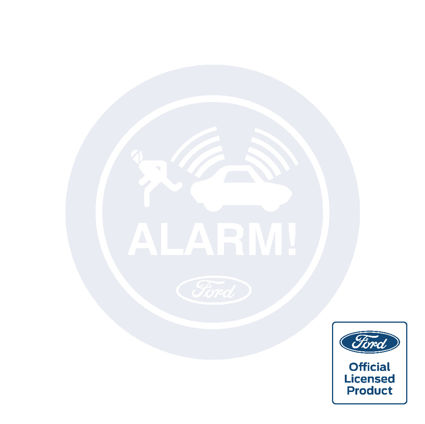 Ford Alarm Decal - Round