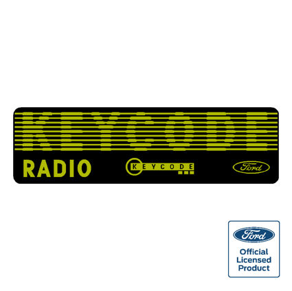 Ford Radio Keycode Decal