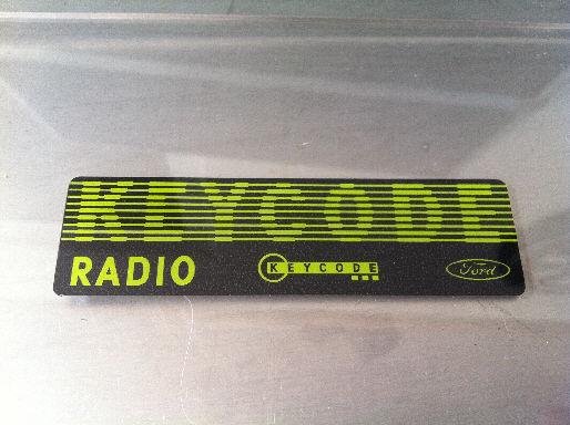 Ford Radio Keycode Black Yellow