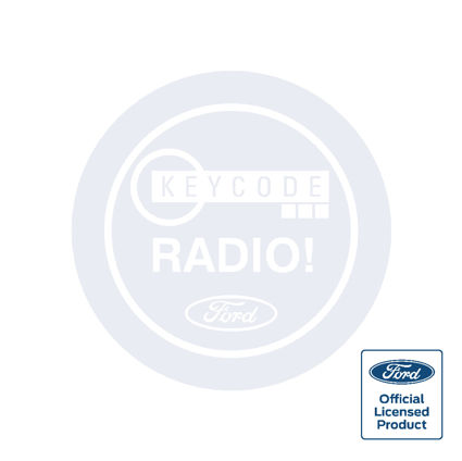 Ford Radio Keycode Decal - Round