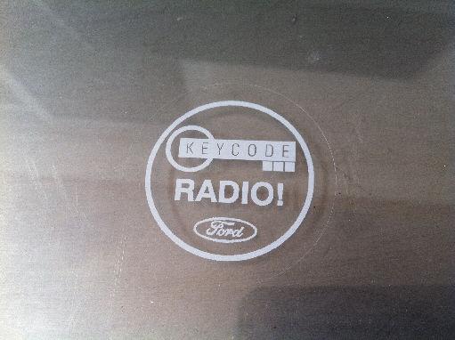 Ford Radio Keycode White Round