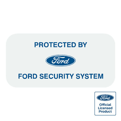 Ford Security System Decal