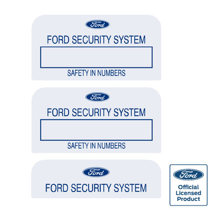 Ford Security System Decal - Set of 3