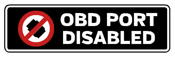 OBD Port Disabled Decal