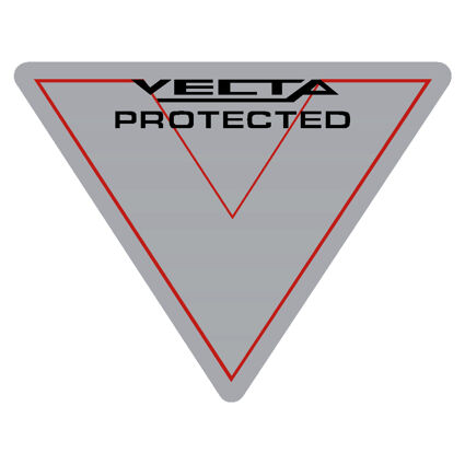 Vecta protected sticker