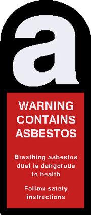 Asbestos Decal 60x25mm