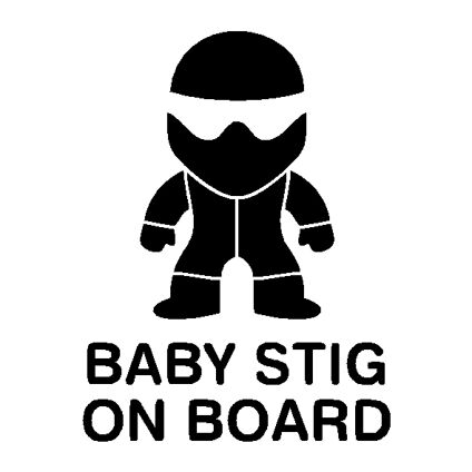 Baby Stig on Board Decal
