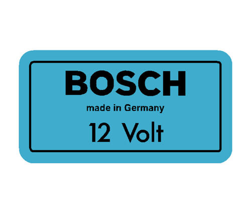 Bosch Coil Decal Blue 12V