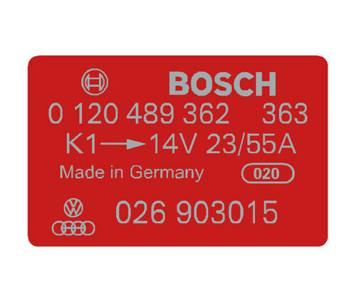 Bosch Coil Decal Red 0120489362 VW Audi