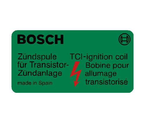Bosch Coil Decal - Green - Made in Spain