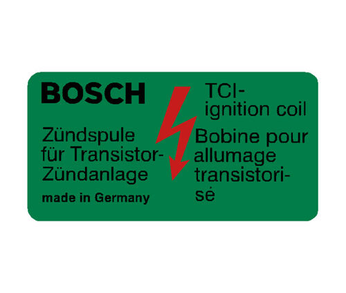 Bosch Coil Decal - Green - Made in Germany