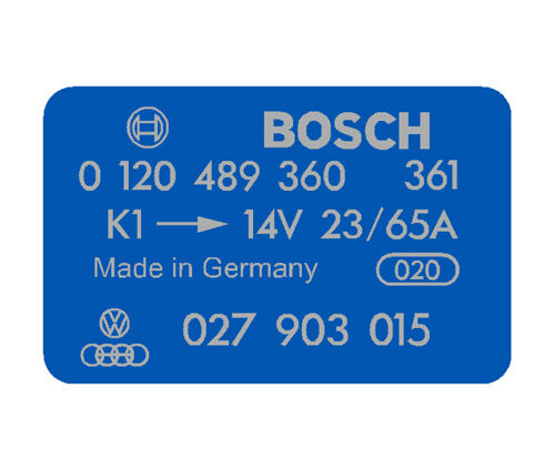 BOSCH Coil Decal - Blue - 0120489360