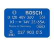 Bosch Coil Decal Blue 0120489360 VW Audi