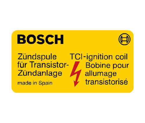 Bosch Coil Decal - Yellow - Made in Spain