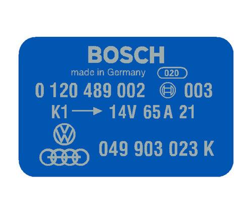 BOSCH Coil Decal - Blue - 0120489002