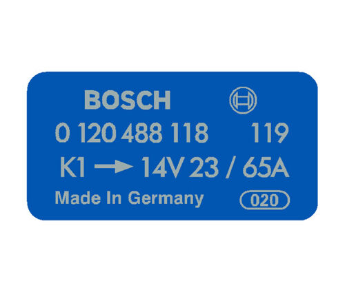 Bosch Alternator Decal Blue 0120488118