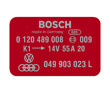 Bosch Coil Decal Red 0120489008 VW Audi