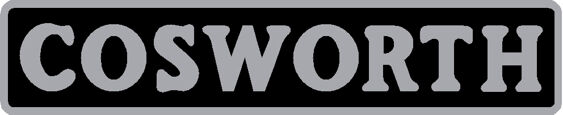 Cosworth Gel Badge - Black/Chrome