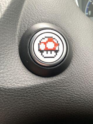 Start Button Badge Super Mario White