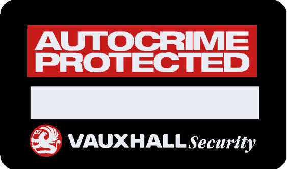 Vauxhall - Autocrime Protected Decal