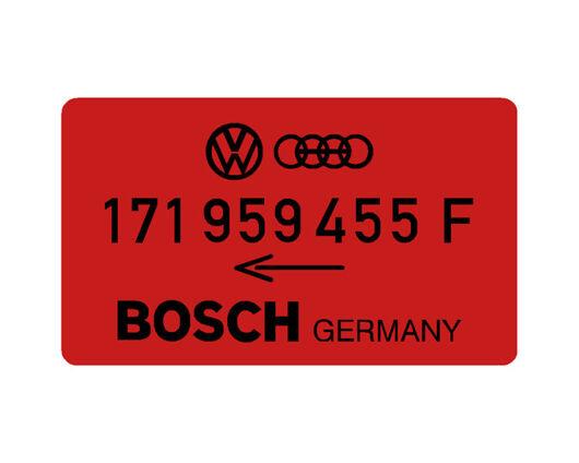 Bosch Fan Decal VW Audi 171 959 455 F
