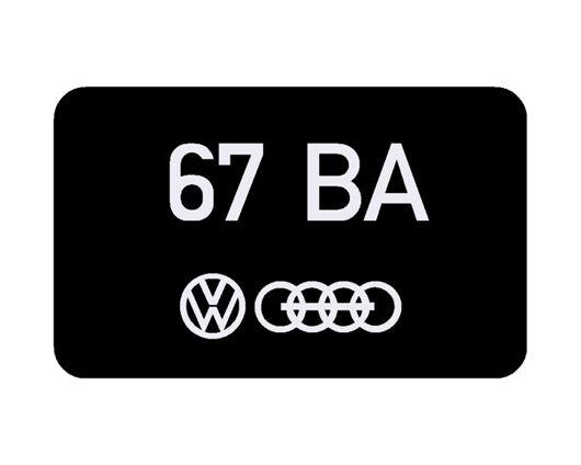 Volkswagen metering Head decal