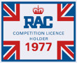 RAC Competition Licence Holder 1977