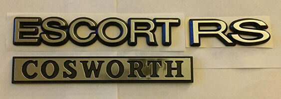 Escort RS Cosworth Tailgate Badge SET - Large Turbo