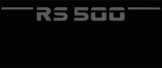 RS 500 Wing decals