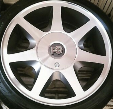 Ford 7 Spoke Diamond Cut Wheel Centre Gel Badges