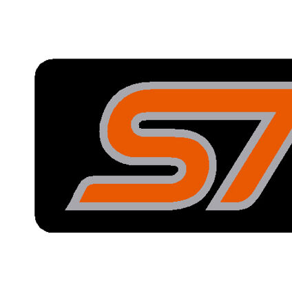 Black/Orange - Set of 4