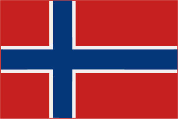 Rally Names - External Fitting - Norway Flag