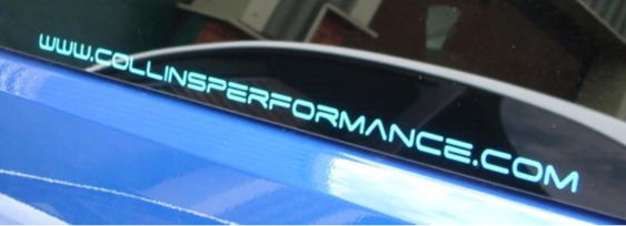 Collins Performance Web Address Decal