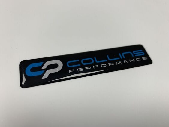 Collins Performance - Domed badge - 82x17mm