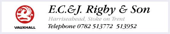 ECJ Rigby Stoke on Trent Vauxhall 245x50