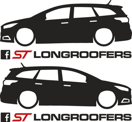 Longroofers Silhouette Decal - Focus Mk3.5 Facelift