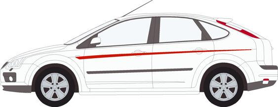 Focus Mk2 Single Upper Stripe Kit UNCUT